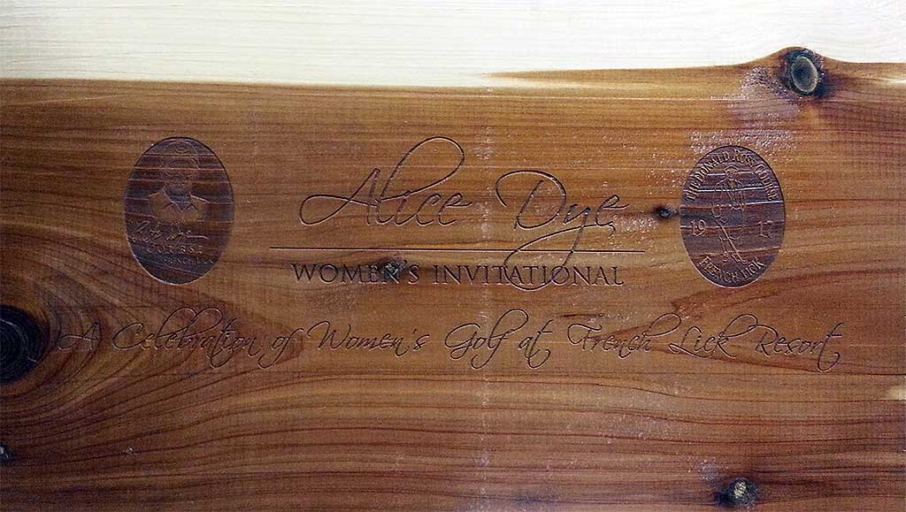 Alice Dye Women's Invitational - Custom Engraved Cigar Box
