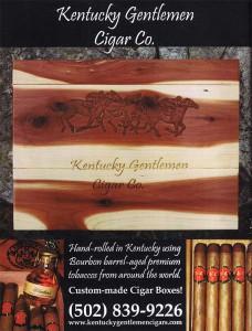 Kentucky Gentlemen Cigars in The Bourbon Review magazine